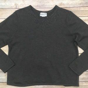 Vintage PENDLETON Beaded neckline sweater